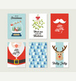 christmas gift cards or tags with lettering vector image vector image