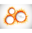 Circles with flames vector image vector image