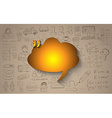 Cloud Computing concept with infographics sketch vector image