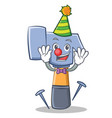 clown hammer character cartoon emoticon vector image
