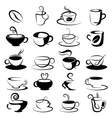 coffee and tea design vector image vector image
