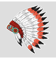 colorful of native American war bonnet Design for vector image vector image