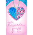 congratulations card as heart of gems vector image