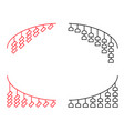 curve corner line ornament in japanese shrine vector image