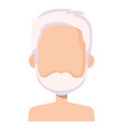 cute grandfather shirtless avatar character vector image vector image