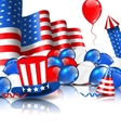 Cute Wallpaper in National American Colors vector image vector image