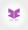 education book logo design vector image vector image