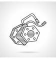 Electromotive line icon vector image vector image