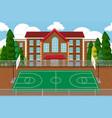 empty school sport playground vector image vector image