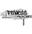 fitness magazines text background word cloud vector image vector image