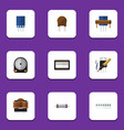 flat icon electronics set of receptacle hdd vector image vector image
