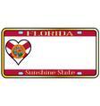 florida state license plateai vector image vector image