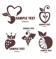 fruits emblems vector image vector image
