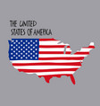 hand drawn stylized map united states of vector image