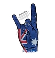 hand gesture cool rock and roll flag of vector image vector image