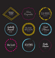 handdrawn logo collection vector image