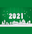 happy new year and winter season snow urban vector image vector image