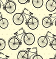 hipster bike patern resize vector image vector image