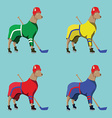 Hockey Dogs Mascots in Colorful Sportswear vector image