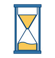 hourglass time symbol vector image vector image