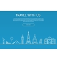 Infographics elements Travel and Famous Landmarks vector image vector image