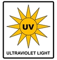 Intensity Ultraviolet Light Protect Your Eyes UV vector image