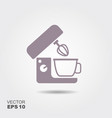 kitchen mixer flat icon of kitchen appliances vector image