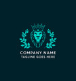 lion crown beauty and fashion logo