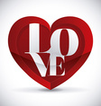 love poster vector image vector image