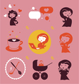 Maternity icons vector image vector image