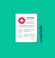 medical or health insurance document vector image