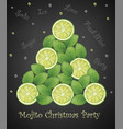 mojito christmas tree created lot mint leave vector image