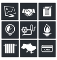 Natural gas industry icon set vector image vector image