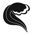 Ocean or sea wave icon simple style