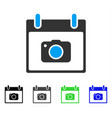 photo camera calendar day flat icon vector image vector image