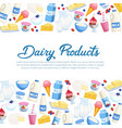 poster daity products vector image vector image