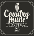 poster for country music festival vector image vector image