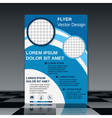Professional flyer design template vector image vector image
