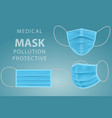realistic medical face mask doctor mask vector image