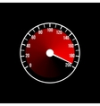Red speedometer design on a black vector image vector image