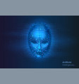 robot or artificial intelligence ai cyber face vector image vector image