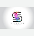 s vibrant creative leter logo design with vector image vector image