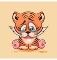Sad Tiger cub crying vector image vector image