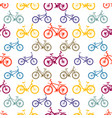 seamless pattern mountain bike vector image vector image