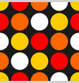 seamless pattern with colorful dots on black vector image
