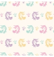 Seamless Pattern with Unicorns Fantasy Fairytale vector image vector image