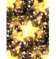 seamless texture with a luxurious gold stars and vector image vector image
