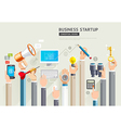 set business hands services vector image vector image