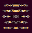 set decorative ethnic borders with american vector image