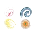 set of 4 colorful swirl signs vector image vector image